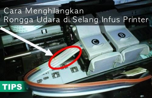 Menghilangkan Rongga Udara Pada Selang Infus Printer